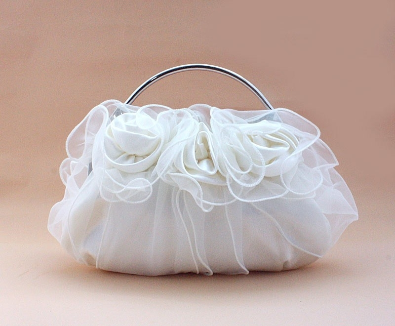 Glamorous Rozen Bruidstasje Wit
