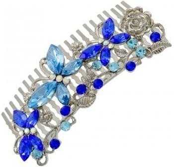 Blauwe Vlinder Haarkam