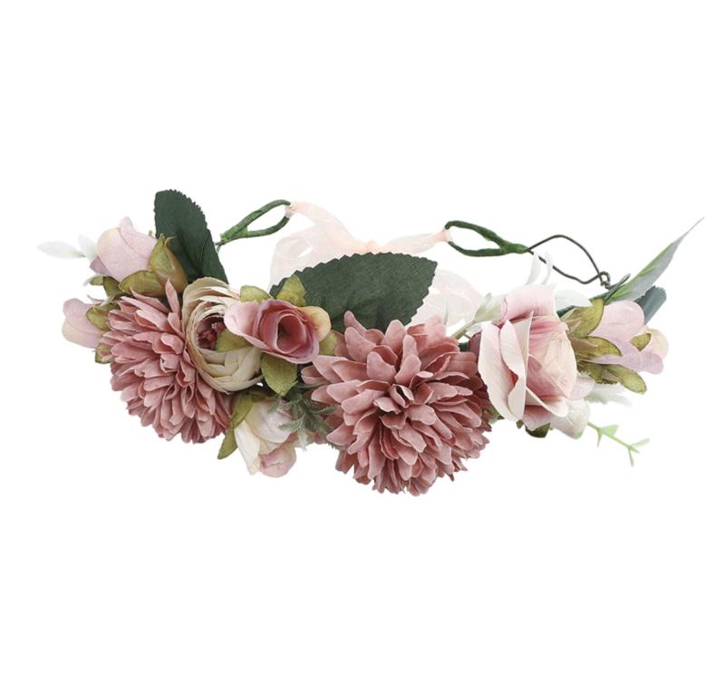 Grote Bloemenkrans Oud Roze