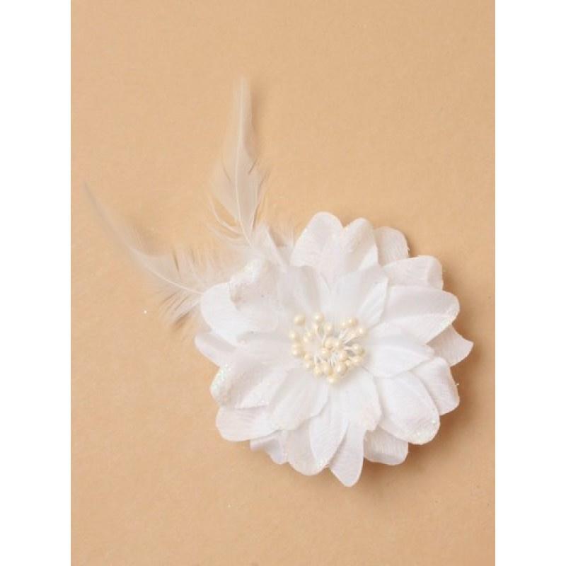 Witte Glitter Bloem