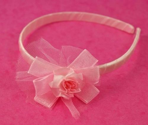 Kinder Haarband met Roze Roos