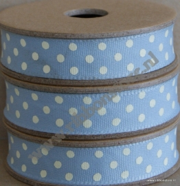 DO12805 Blue with cream Dots Ribbon