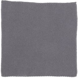Keukendoekje gebreid / Dishcloth Dark grey knitted