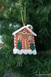 X MAS hanger Gingerbread House with tree