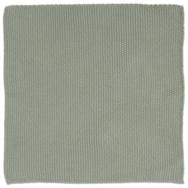 Keukendoekje gebreid / Dishcloth knitted Dusty Green