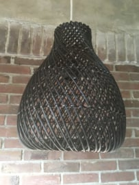Rotan lamp  small Kleur Zwart