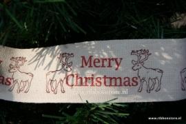Reindeer Ribbon width 45 mm NEW