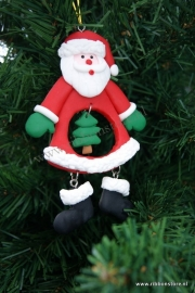 X Mas hanger Santa with xmas tree in tummy