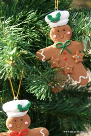 X MAS hanger Gingerbread green