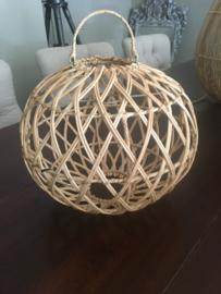 Rotan hanglamp/ plafondlamp  rond new model 30 cm