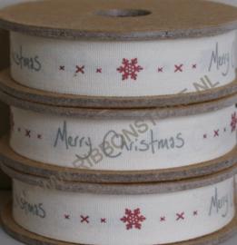 Merry Christmas with snowflake/ kerstlint