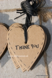 Small Gift Tags / Small Gift Labels Kraft Thank You