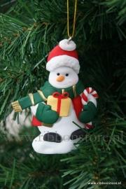 X MAS hanger Snowman gift/candy cane