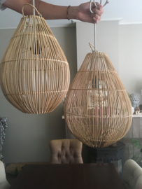 Rotan druppel model hanglamp / plafondlamp Medium