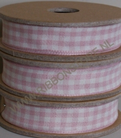 Gingham  Baby Pink
