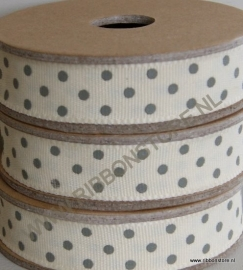 DO12840 Cream with grey dots