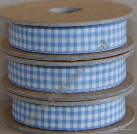 Gingham Light Blue