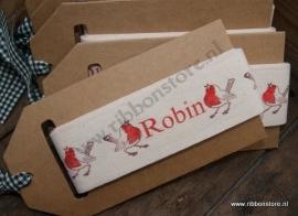 Robin Ribbon width 45 mm NEW