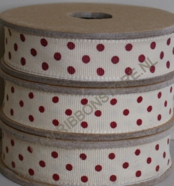 DO12835 Cream with red dots