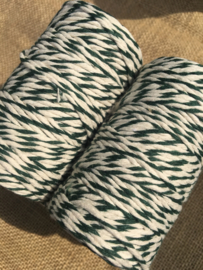 Bakers twine green / offwhite