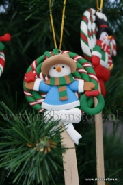 X MAS hanger Lolly  with wreath