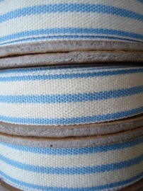 2 stripe cream/pale blue