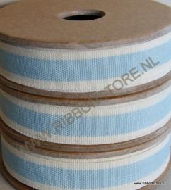 Blue stripe with cream edge