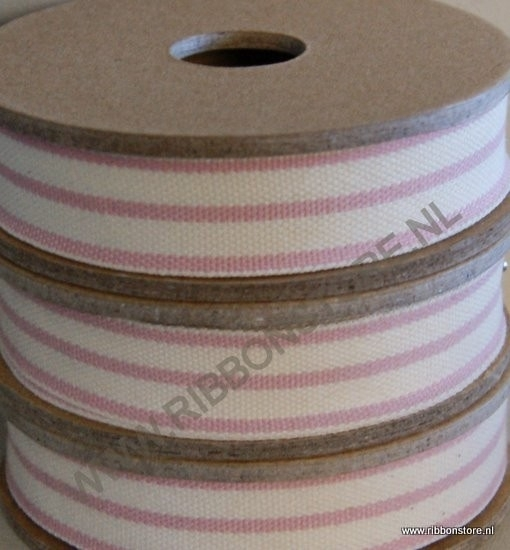 2 stripe cream/pink