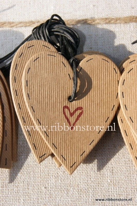 Small Gift Tags / Small Gift Labels Kraft Heart