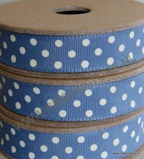 DO12810 Dark blue with cream dots