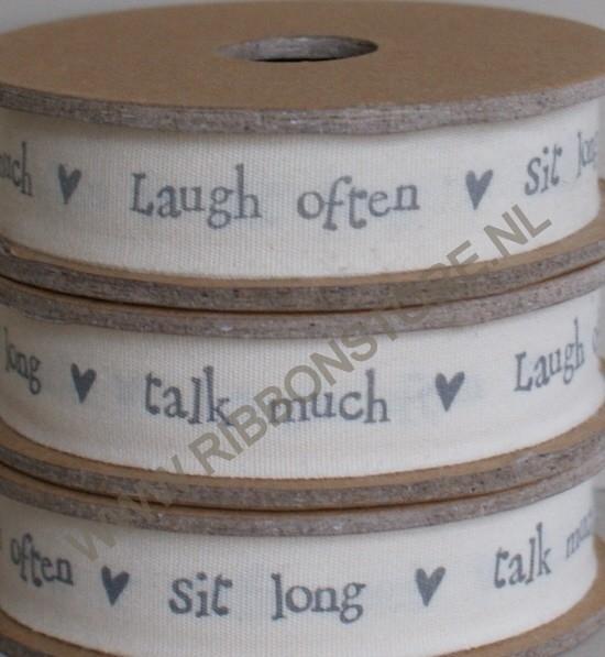 PR12110 Laugh often, talk much, sit long