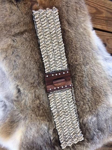 Kralen riem naturel / Beads belt naturel