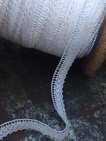wit Kant 100% katoen ... White lace 100 % cotton
