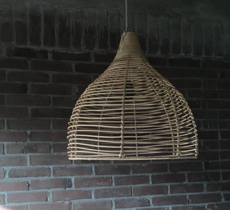 Rotan lamp Rond Kleur Naturel