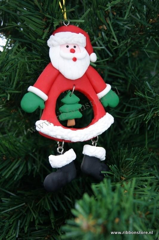 X Mas hanger Santa with xmas tree in tummy