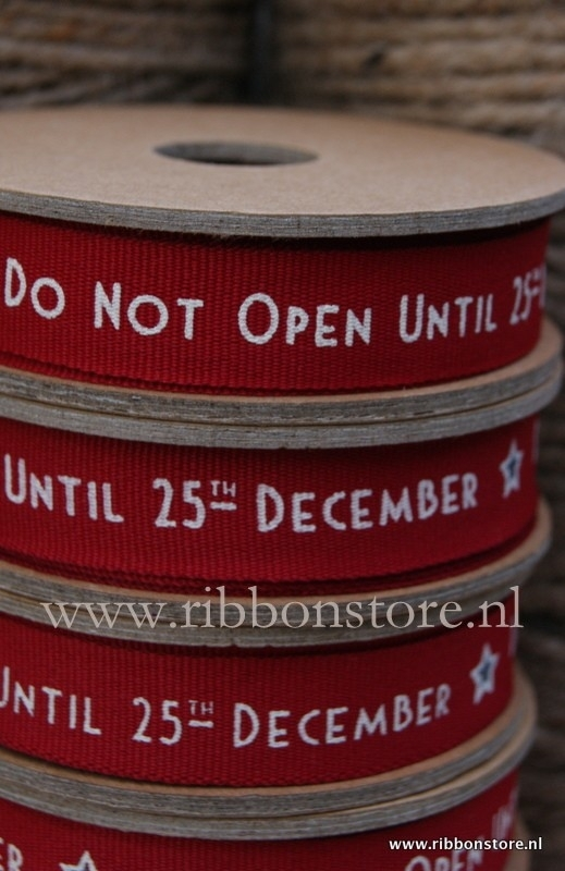 NEW...Do not open until 25 th december red