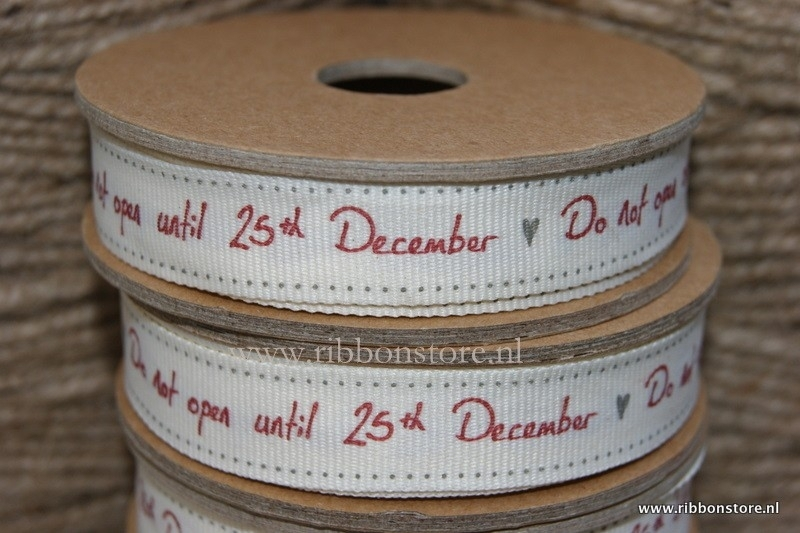 NEW... Do not open until 25 th december creme