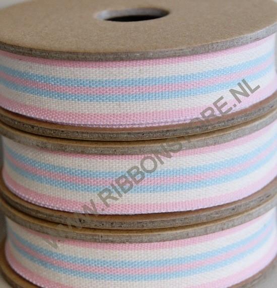 Pink/cream/aqua deck chair & ladder stripe