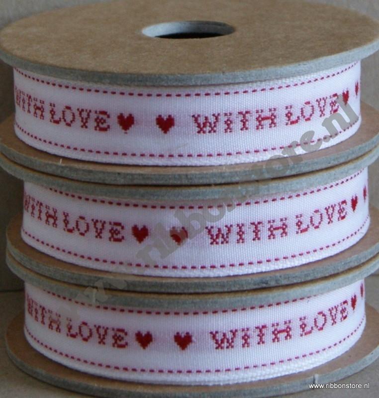 XS12725 With Love / Kruissteek lint