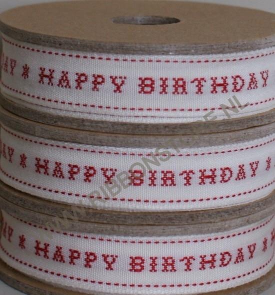XS12745 Happy Birthday / Kruissteek lint