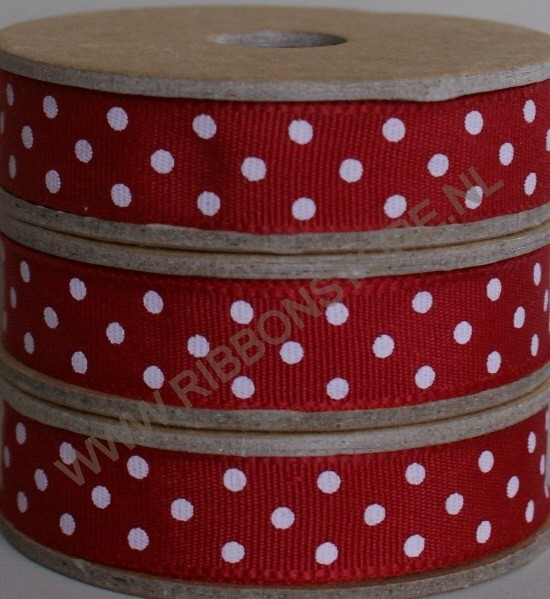 DO12830 Red with cream dots