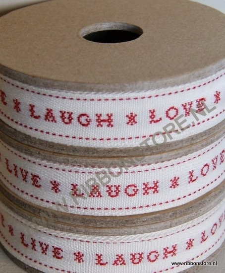 XS12770 Live, Laugh,Love / Kruissteek lint