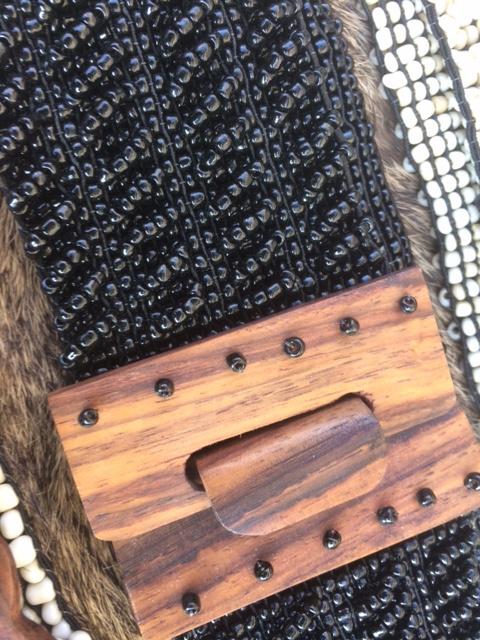 Kralen riem zwart / Beads belt Black