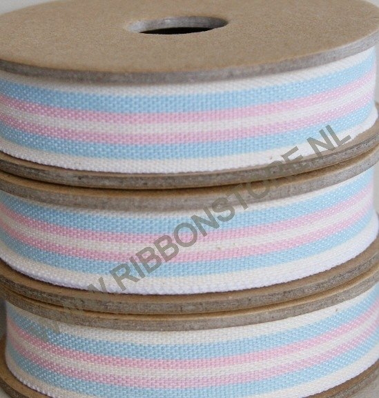 Cream/aqua/pink deck chair & ladder stripe
