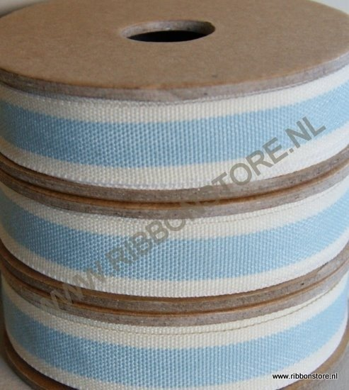 Blue stripe with cream edge