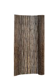 Bamboescherm op rol zwart 180x180