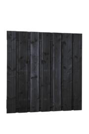 Douglas plankenscherm zwart 15-planks
