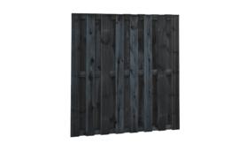 Plankenscherm zwart 15-planks