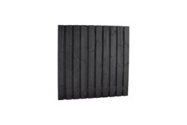 Plankenscherm zwart 21-planks