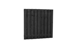 Plankenscherm zwart 17-planks